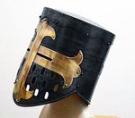Knight Templar helmet black