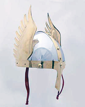Viking helmet with shining wings