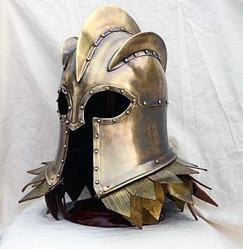 Imperial helmet with stand