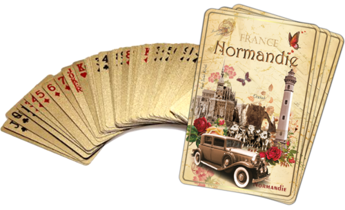 Normandy vintage card set