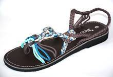 brown lagoon flat sandals
